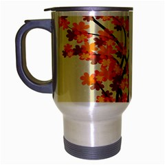 Branches Field Flora Forest Fruits Travel Mug (silver Gray) by Nexatart