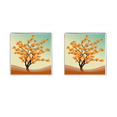 Branches Field Flora Forest Fruits Cufflinks (square)