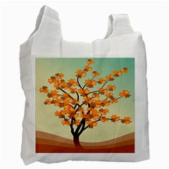 Branches Field Flora Forest Fruits Recycle Bag (one Side)