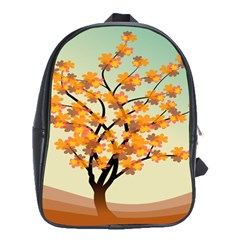 Branches Field Flora Forest Fruits School Bags(large)  by Nexatart