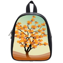 Branches Field Flora Forest Fruits School Bags (small)  by Nexatart