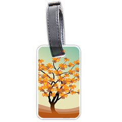 Branches Field Flora Forest Fruits Luggage Tags (one Side)