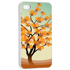 Branches Field Flora Forest Fruits Apple Iphone 4/4s Seamless Case (white) by Nexatart