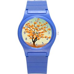 Branches Field Flora Forest Fruits Round Plastic Sport Watch (s) by Nexatart