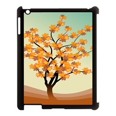 Branches Field Flora Forest Fruits Apple Ipad 3/4 Case (black)