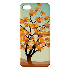 Branches Field Flora Forest Fruits Apple Iphone 5 Premium Hardshell Case by Nexatart