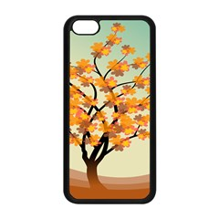 Branches Field Flora Forest Fruits Apple Iphone 5c Seamless Case (black) by Nexatart