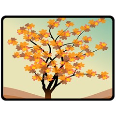 Branches Field Flora Forest Fruits Double Sided Fleece Blanket (large)  by Nexatart