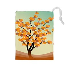 Branches Field Flora Forest Fruits Drawstring Pouches (large)