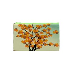 Branches Field Flora Forest Fruits Cosmetic Bag (xs)