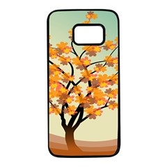 Branches Field Flora Forest Fruits Samsung Galaxy S7 Black Seamless Case