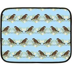 Sparrows Fleece Blanket (mini) by SuperPatterns