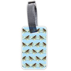 Sparrows Luggage Tags (one Side)  by SuperPatterns