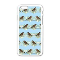 Sparrows Apple Iphone 6/6s White Enamel Case by SuperPatterns