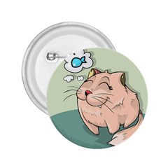 Cat Animal Fish Thinking Cute Pet 2 25  Buttons