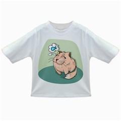 Cat Animal Fish Thinking Cute Pet Infant/toddler T Shirts