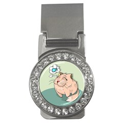 Cat Animal Fish Thinking Cute Pet Money Clips (cz)