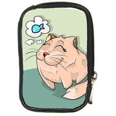 Cat Animal Fish Thinking Cute Pet Compact Camera Cases by Nexatart