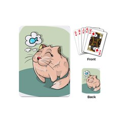 Cat Animal Fish Thinking Cute Pet Playing Cards (mini)