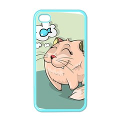 Cat Animal Fish Thinking Cute Pet Apple Iphone 4 Case (color) by Nexatart