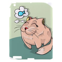 Cat Animal Fish Thinking Cute Pet Apple Ipad 3/4 Hardshell Case by Nexatart