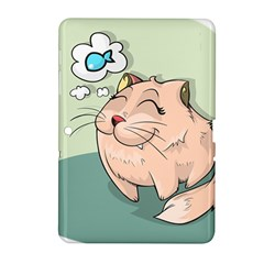 Cat Animal Fish Thinking Cute Pet Samsung Galaxy Tab 2 (10 1 ) P5100 Hardshell Case  by Nexatart
