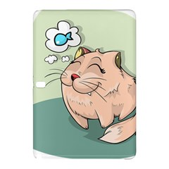 Cat Animal Fish Thinking Cute Pet Samsung Galaxy Tab Pro 10 1 Hardshell Case
