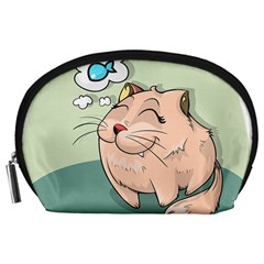 Cat Animal Fish Thinking Cute Pet Accessory Pouches (large)