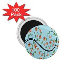 Branch Floral Flourish Flower 1 75  Magnets (100 Pack)