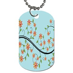 Branch Floral Flourish Flower Dog Tag (one Side)