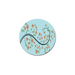 Branch Floral Flourish Flower Golf Ball Marker by Nexatart