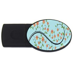 Branch Floral Flourish Flower Usb Flash Drive Oval (4 Gb) by Nexatart