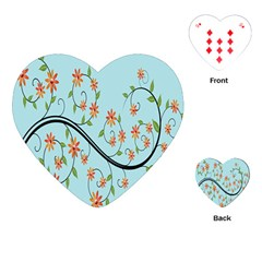Branch Floral Flourish Flower Playing Cards (heart)