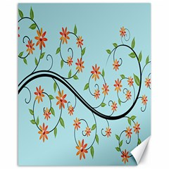 Branch Floral Flourish Flower Canvas 16  X 20