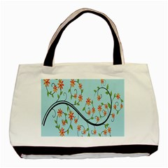 Branch Floral Flourish Flower Basic Tote Bag (two Sides) by Nexatart