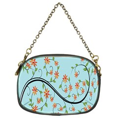 Branch Floral Flourish Flower Chain Purses (two Sides)