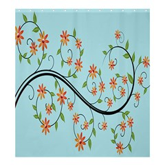 Branch Floral Flourish Flower Shower Curtain 66  X 72  (large)