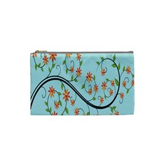 Branch Floral Flourish Flower Cosmetic Bag (small)