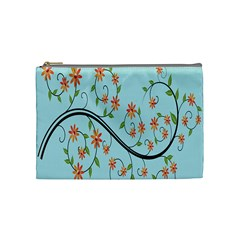 Branch Floral Flourish Flower Cosmetic Bag (medium)  by Nexatart