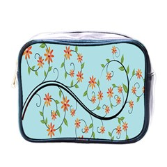 Branch Floral Flourish Flower Mini Toiletries Bags by Nexatart