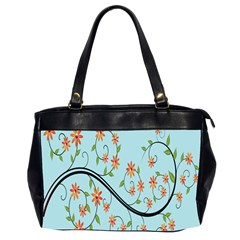 Branch Floral Flourish Flower Office Handbags (2 Sides)  by Nexatart