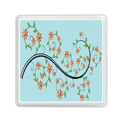 Branch Floral Flourish Flower Memory Card Reader (square)  by Nexatart
