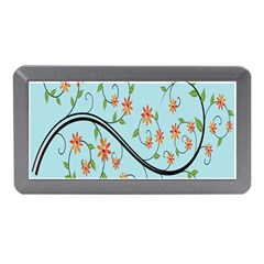 Branch Floral Flourish Flower Memory Card Reader (mini) by Nexatart
