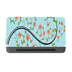 Branch Floral Flourish Flower Memory Card Reader With Cf