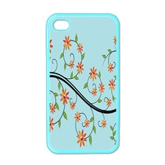 Branch Floral Flourish Flower Apple Iphone 4 Case (color)