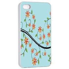 Branch Floral Flourish Flower Apple Iphone 4/4s Seamless Case (white)