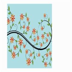 Branch Floral Flourish Flower Small Garden Flag (two Sides) by Nexatart