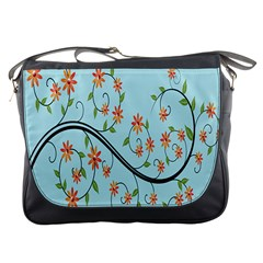 Branch Floral Flourish Flower Messenger Bags