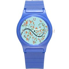 Branch Floral Flourish Flower Round Plastic Sport Watch (s) by Nexatart
