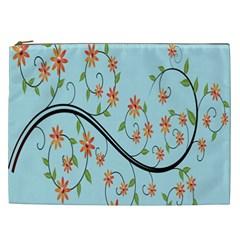 Branch Floral Flourish Flower Cosmetic Bag (xxl)  by Nexatart